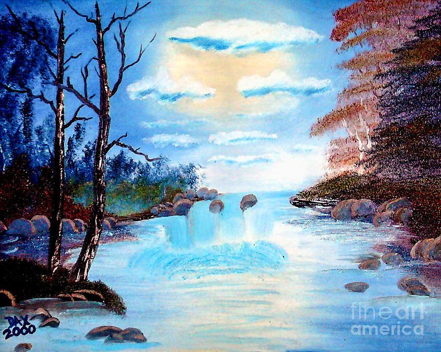 Sunset Stream Painting