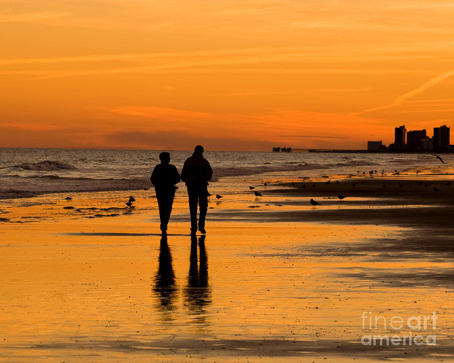 Sunset Photograph - Sunset Stroll by Al Powell Photography USA