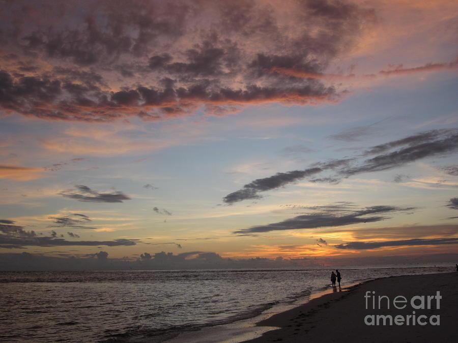 Sunset Photograph - Sunset Stroll by Elizabeth Carr