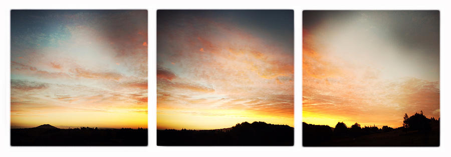 Sunset Triptych Photograph