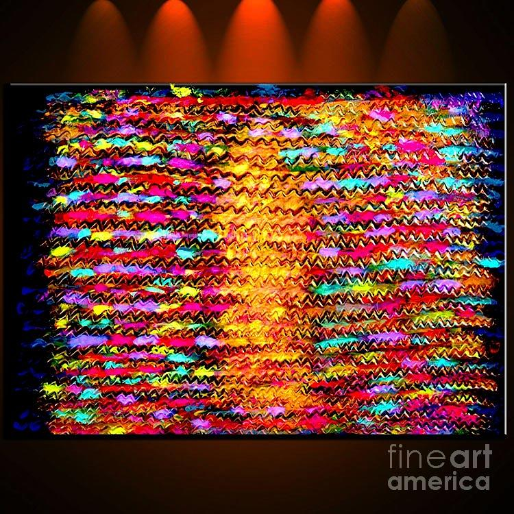 Sunshine Magic - Abstract Oil Painting Original Metallic Gold Textured Modern Contemporary Art Painting