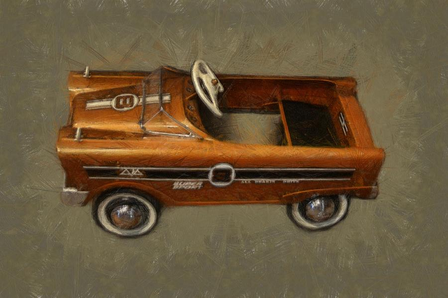 Super Sport Pedal Car Photograph  - Super Sport Pedal Car Fine Art Print