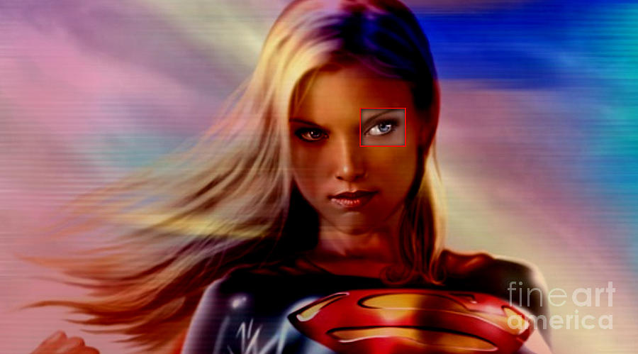 Supergirl Paintings Mixed Media Mixed Media Mixed Media - Supergirl by Marvin Blaine