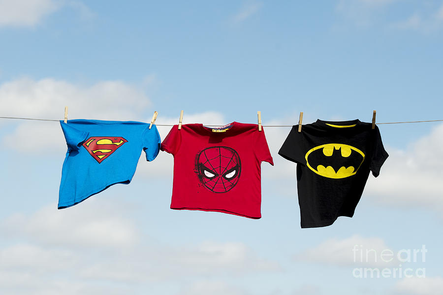 Superheroes Photograph  - Superheroes Fine Art Print