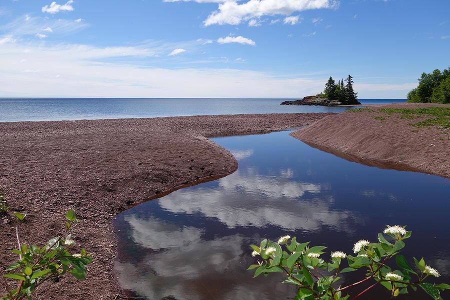 Lake Superior Photograph - Superior Reflections by Sandra Updyke