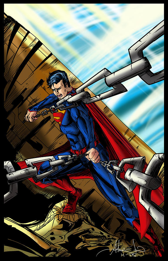 Superman Drawing  - Superman Fine Art Print