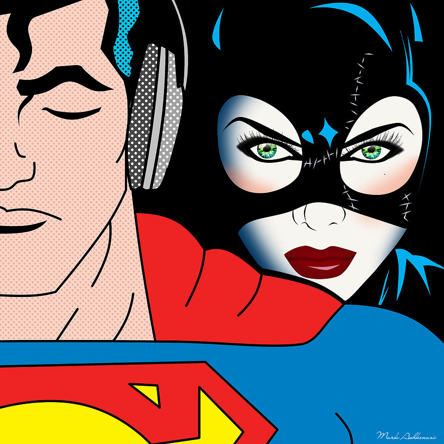 Superman And Catwoman  Digital Art