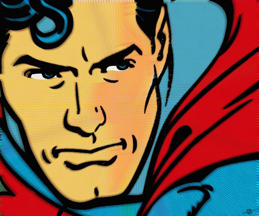 Superman Pop Painting By Tony Rubino