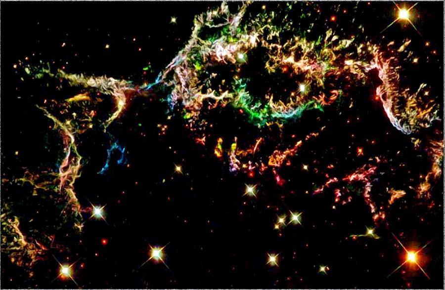 Supernova Remnant Cassiopeia A Photograph