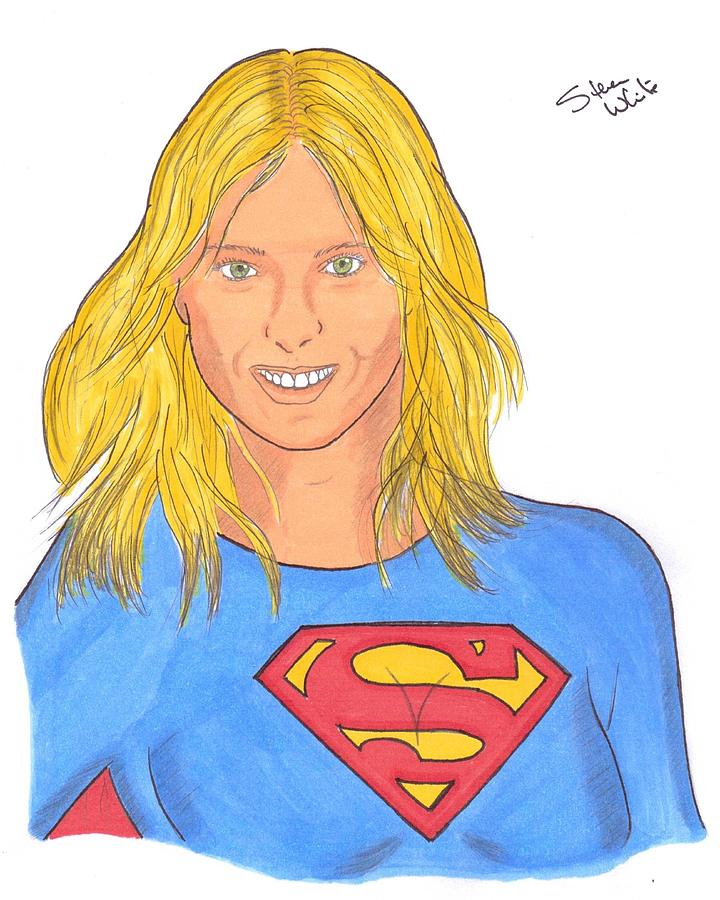 Superpova Drawing  - Superpova Fine Art Print