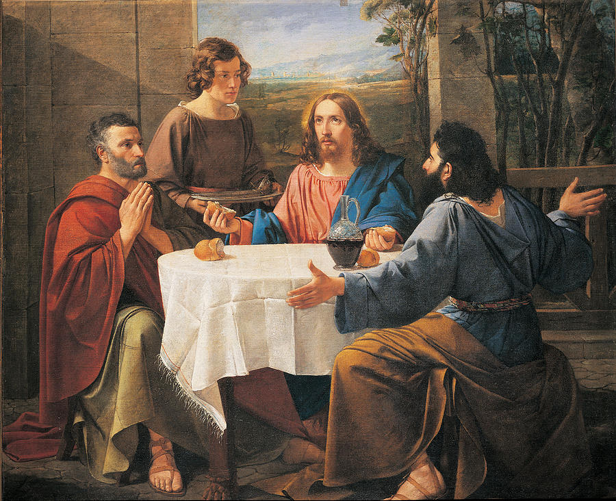Supper At Emmaus, 1837 Painting