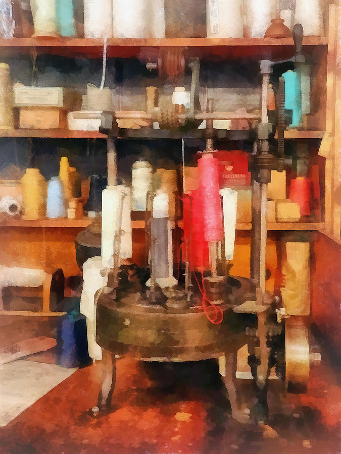 Supplies In Tailor Shop is a photograph by Susan Savad which was ...