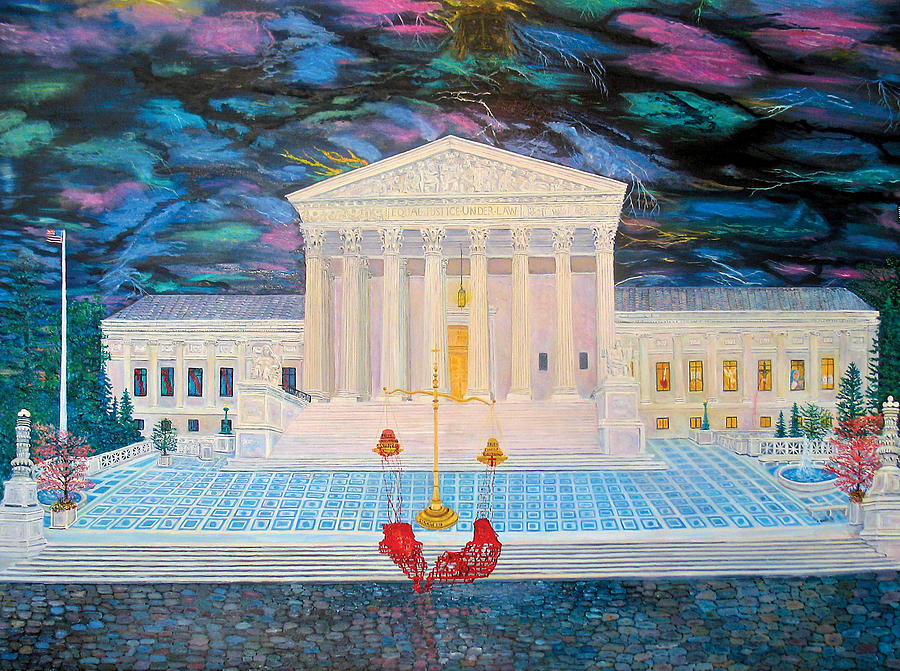 Supreme Court Painting - Supreme Court by Mike De Lorenzo
