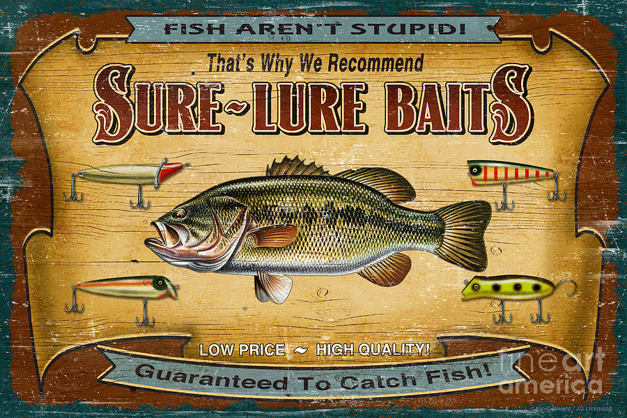 Sure Lure Baits Painting  - Sure Lure Baits Fine Art Print