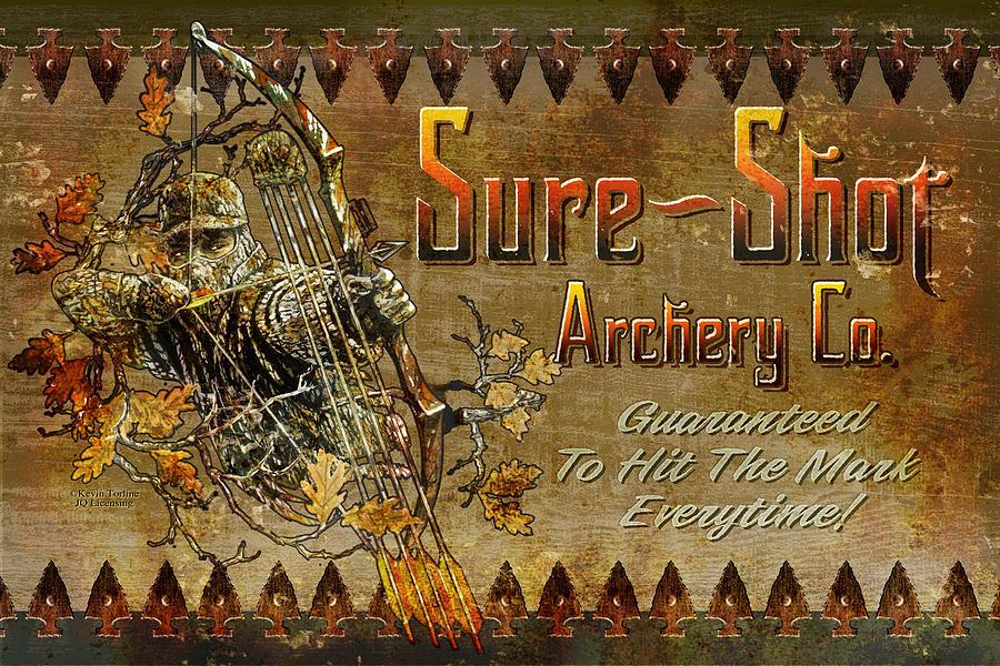 Sure Shot Archery Painting