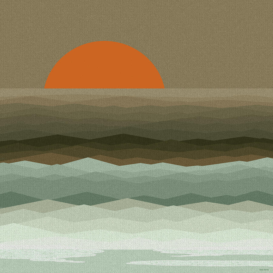 Surf At Sunrise Digital Art