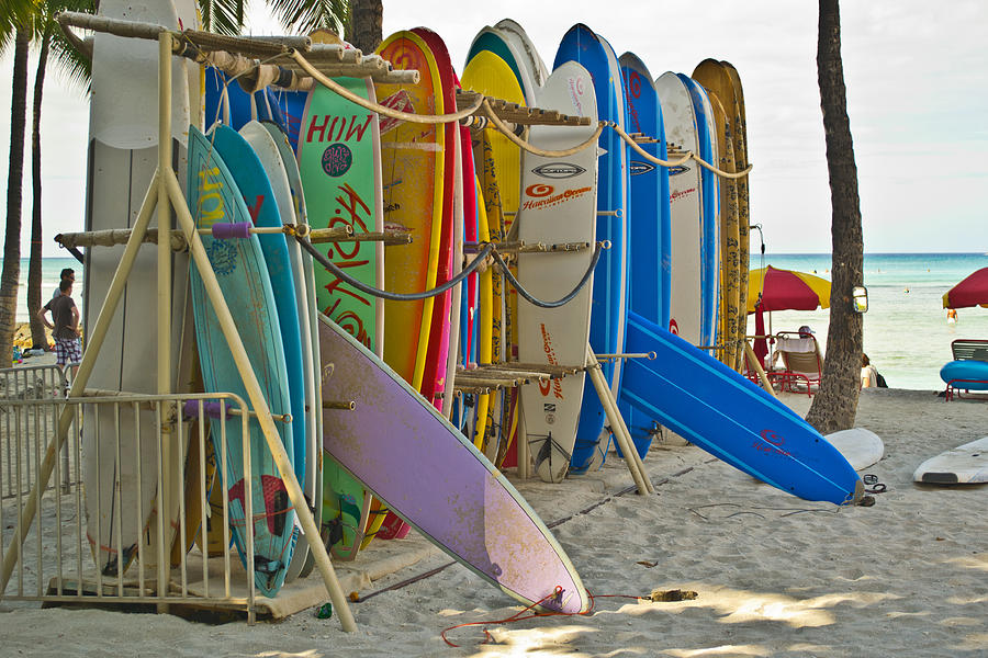 Surf Boards Photograph - Surf Boards by Matt Radcliffe