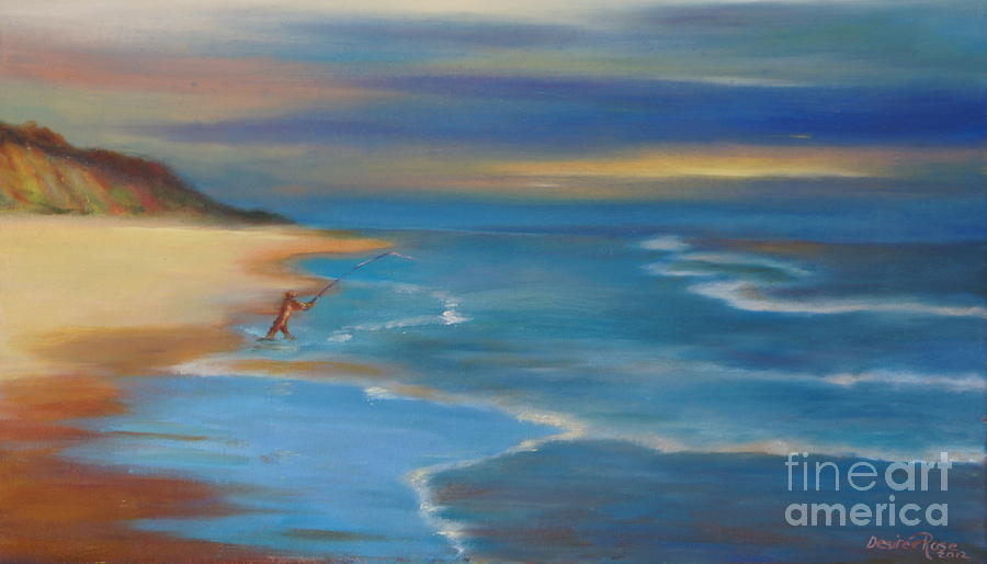 Surf Fishing Painting  - Surf Fishing Fine Art Print