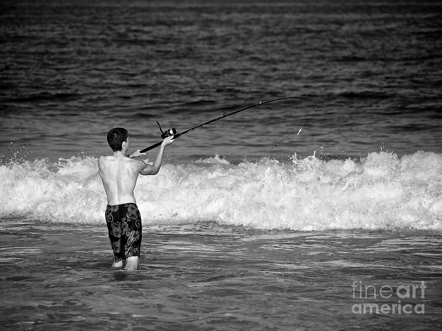 Surf Fishing Photograph  - Surf Fishing Fine Art Print