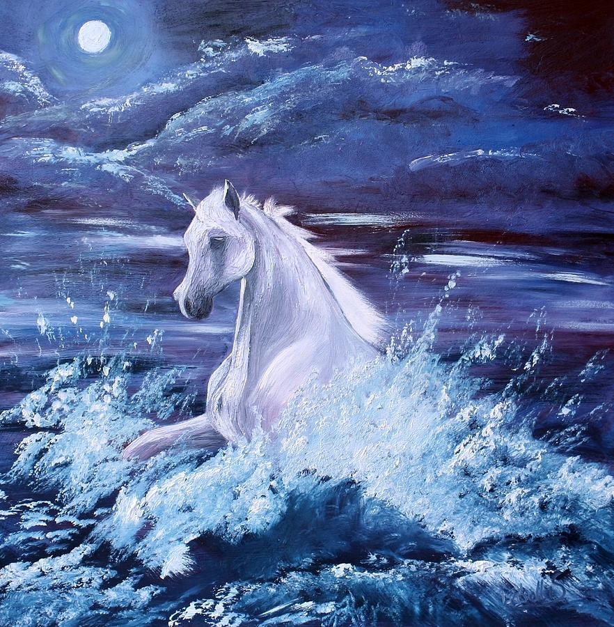 Surf Horse - Untitled Painting  - Surf Horse - Untitled Fine Art Print