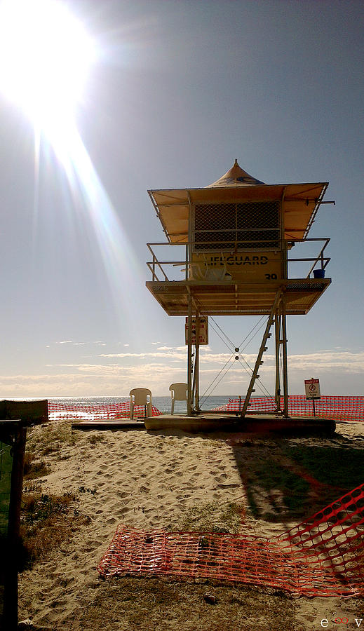 Breaker St Photograph - Surf Life Saver Tower 39 by Edwin Vincent