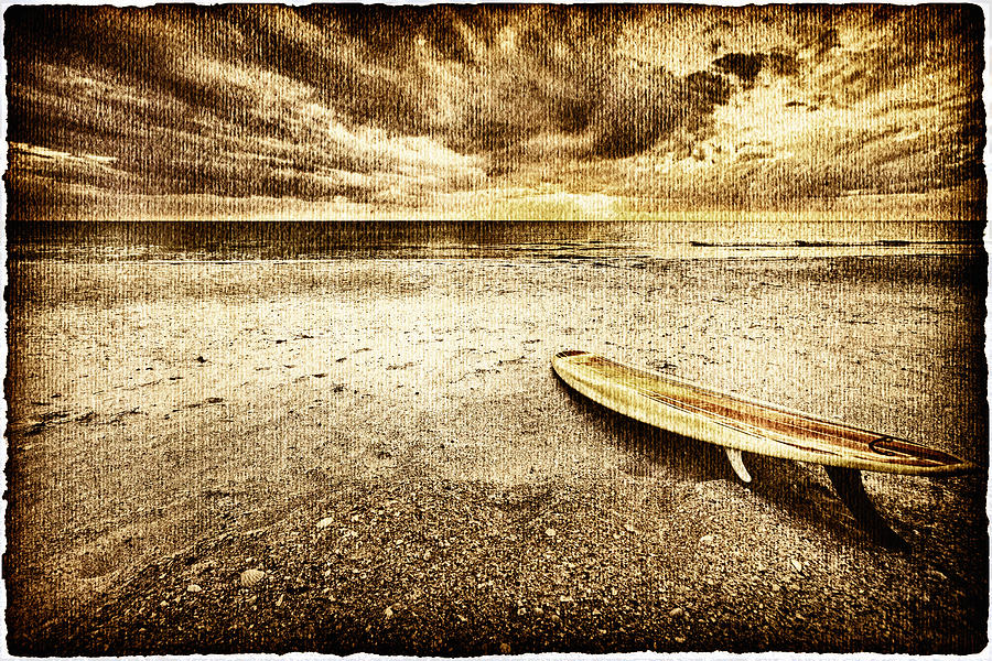 Surfboard On The Beach 2 Photograph  - Surfboard On The Beach 2 Fine Art Print