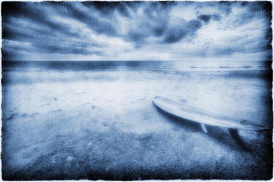 Surfboard On The Beach Photograph