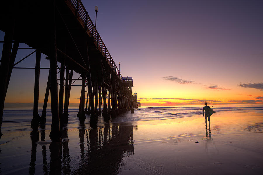 Surfer At Sunset Photograph