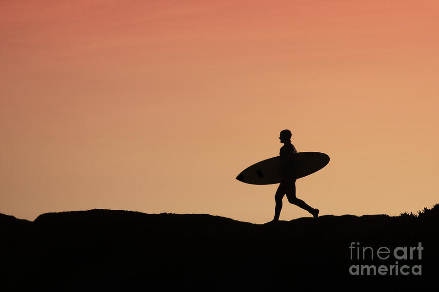Surfer Crossing Photograph  - Surfer Crossing Fine Art Print