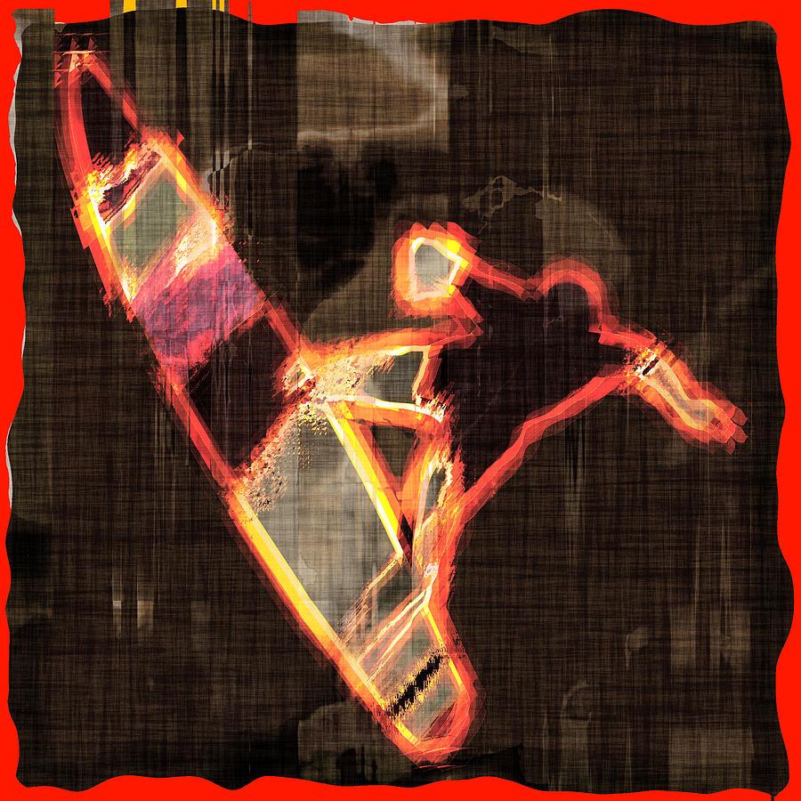 Surfer Digital Art