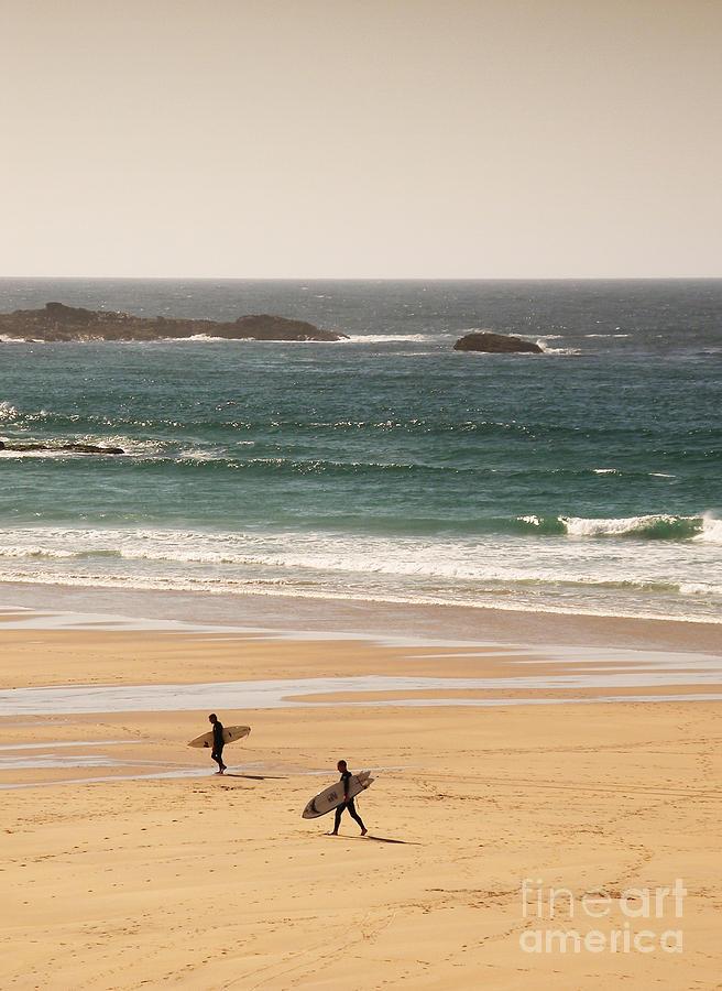Surfers On Beach 01 Photograph