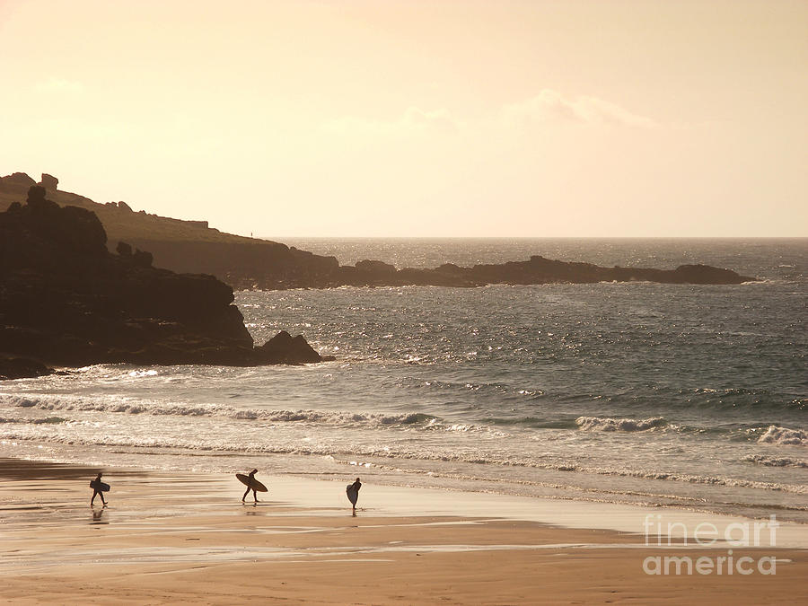 Surf Photograph - Surfers On Beach 03 by Pixel Chimp