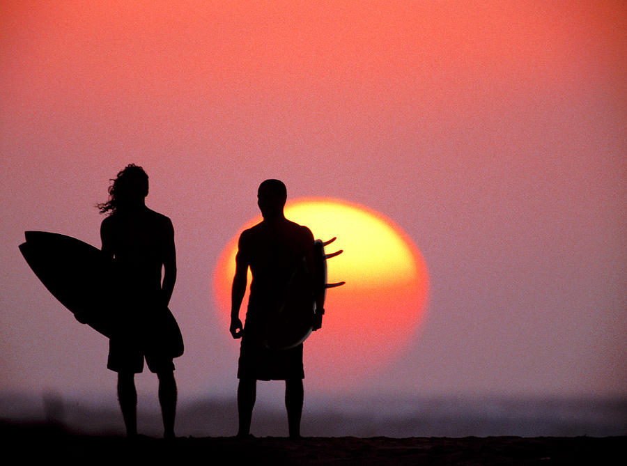 Surfers Sunset Photograph