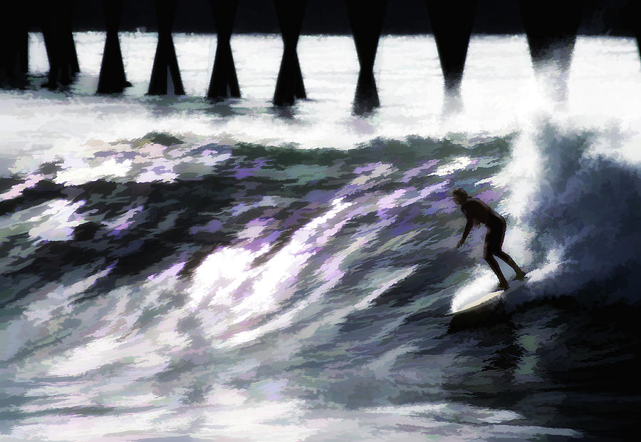Surfing At Rincon Photograph