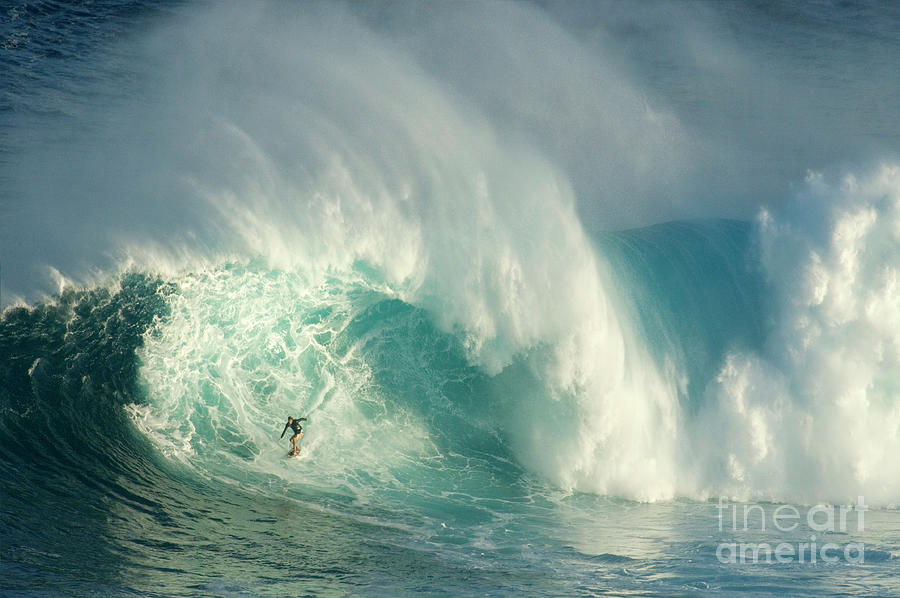Surfing Jaws 3 Photograph  - Surfing Jaws 3 Fine Art Print