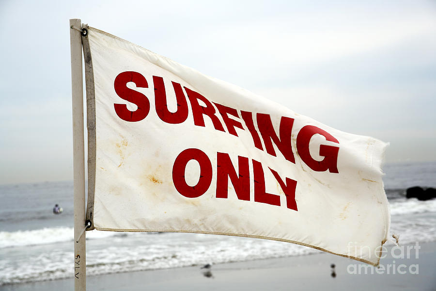 Surfing Only Photograph  - Surfing Only Fine Art Print
