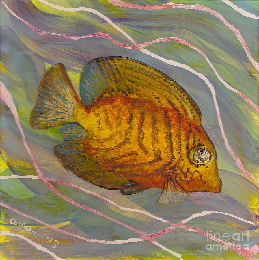 Surgeonfish Painting - Surgeonfish by Anna Skaradzinska