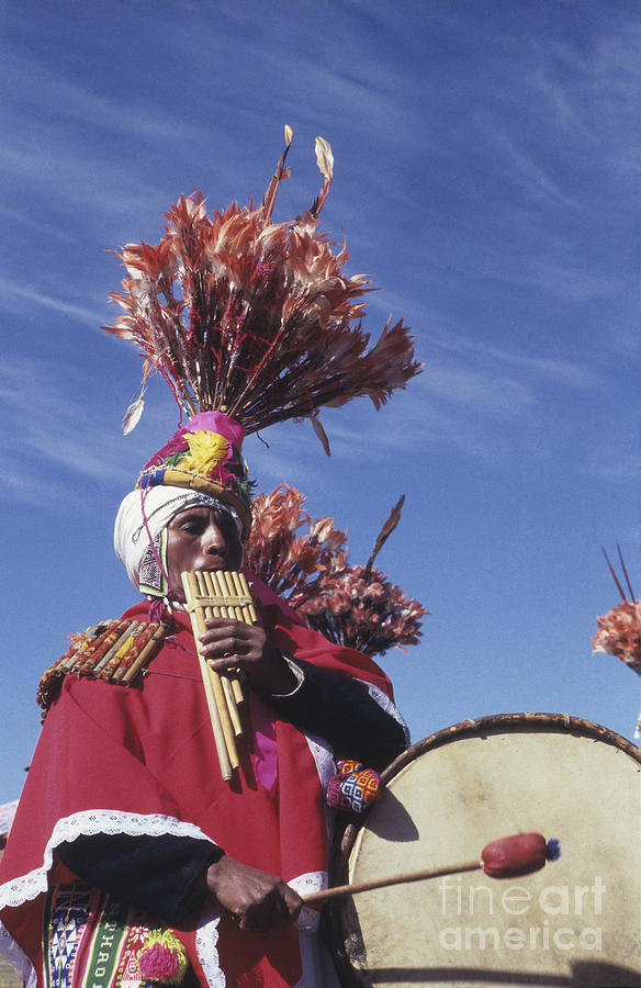 Bolivia Photograph - Suri Sicuri Musician Bolivia by James Brunker