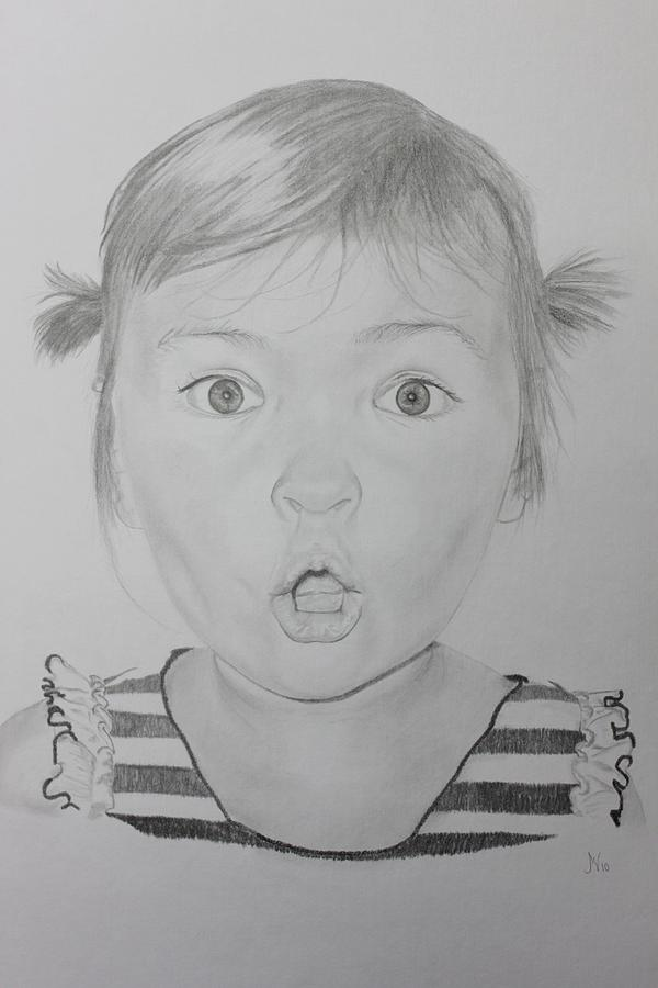 Surprised Drawing  - Surprised Fine Art Print