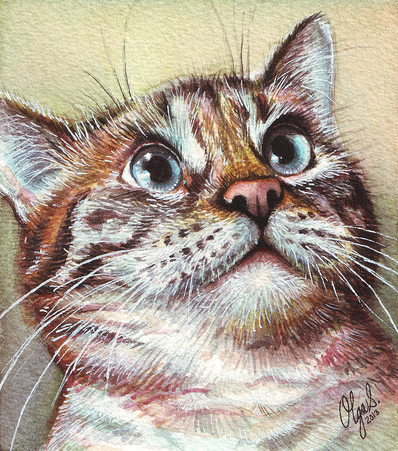Surprised Kitty Painting