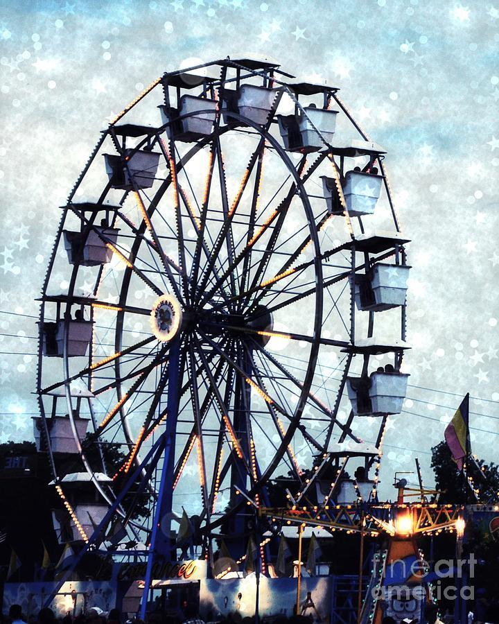 Surreal Carnival Ferris Wheel Baby Boy Blue Carnival Rides ...