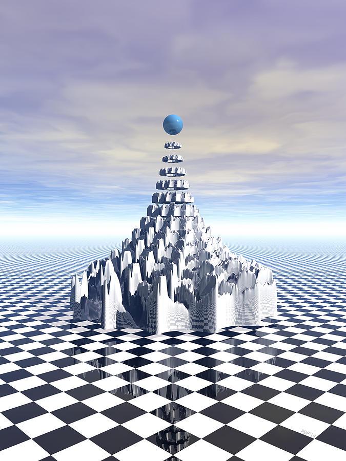 Fractal Digital Art - Surreal Fractal Tower by Phil Perkins