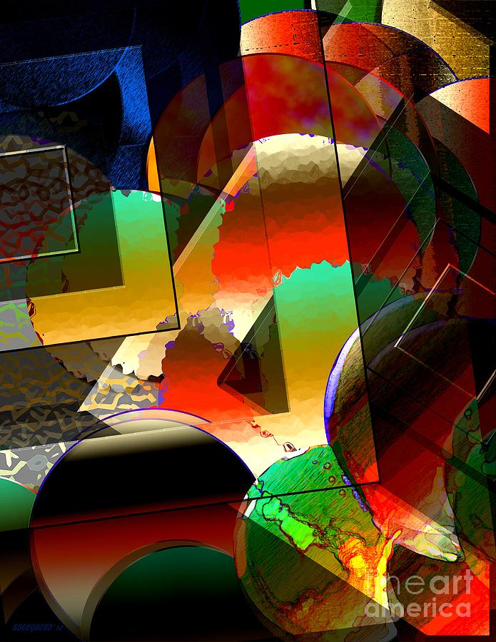 Surreal Geometry Of Contrast And Circles Digital Art