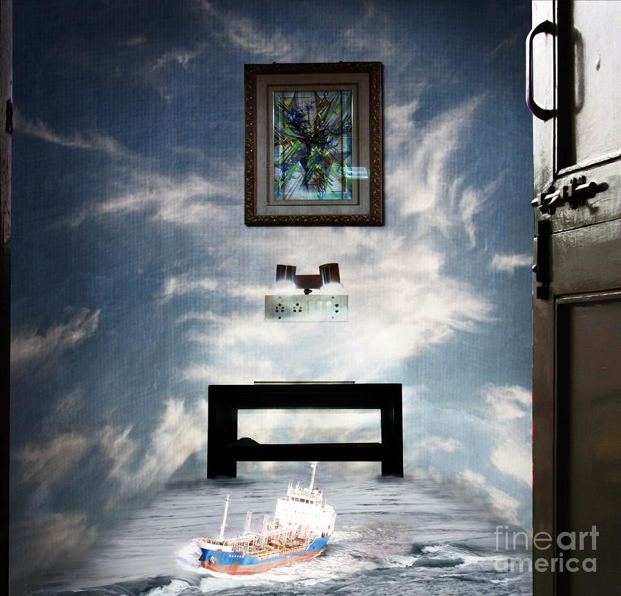 Surreal Living Room Digital Art