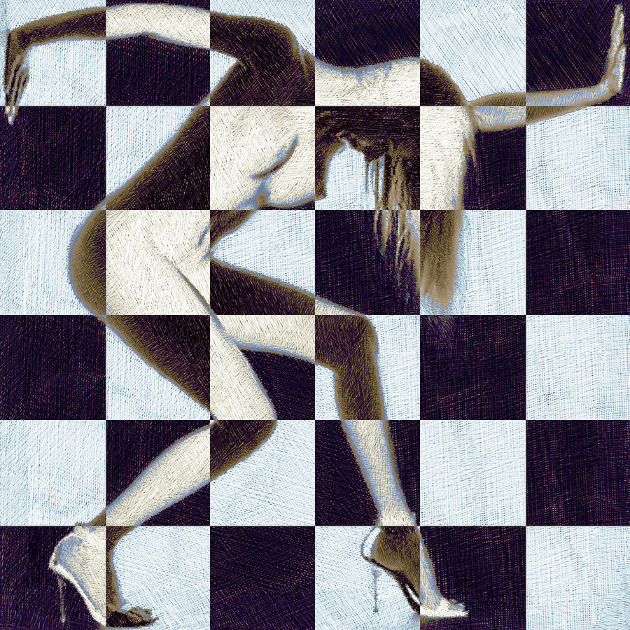 Survive Nude Woman Checkered 2 Painting
