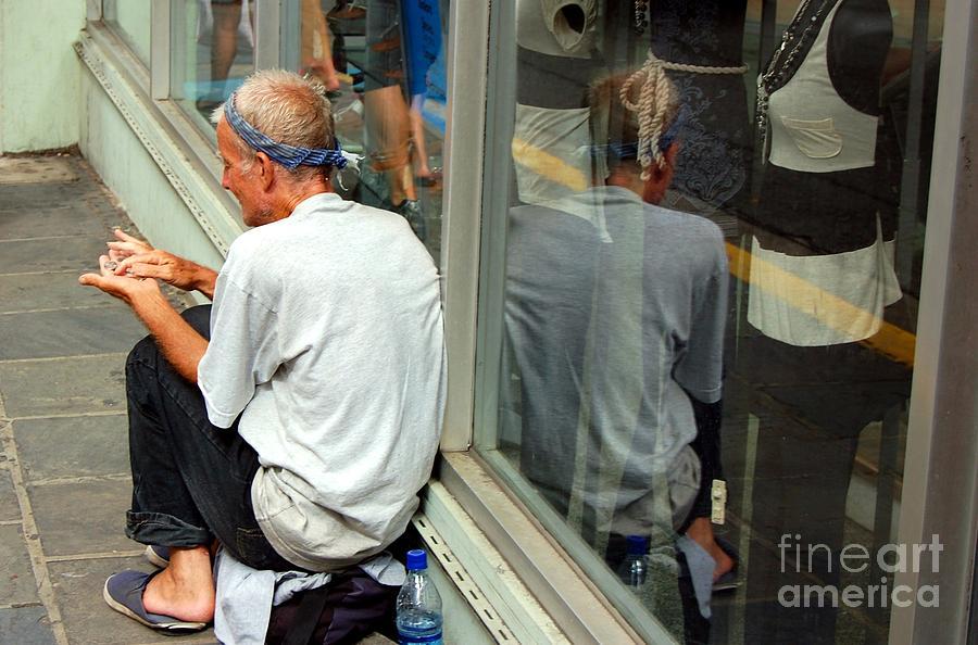 Street Person Photograph - Surviving by Debbi Granruth