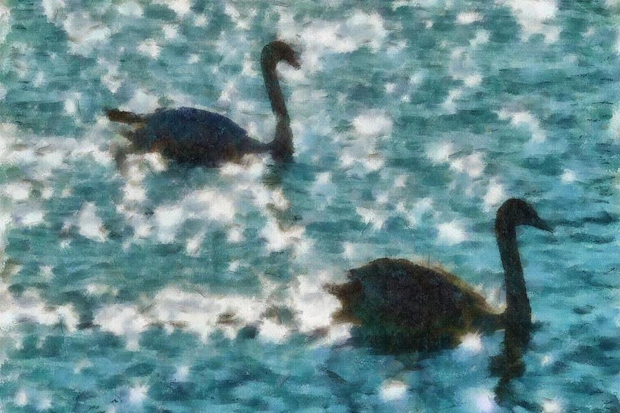 Swan Lake Painting