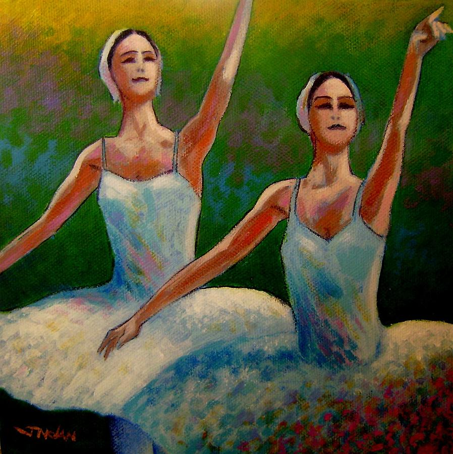 Swan Lake II Painting  - Swan Lake II Fine Art Print