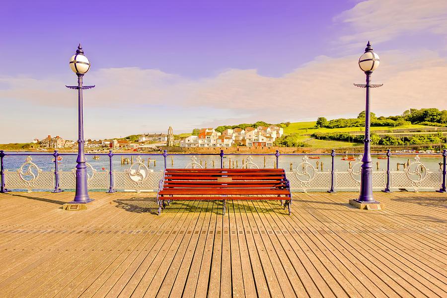 Swanage Pier England - Fine Art Print Mixed Media