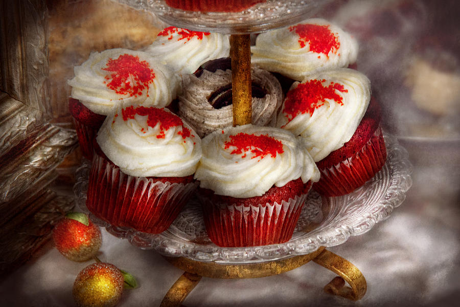 Sweet - Cupcake - Red Velvet Cupcakes  Photograph